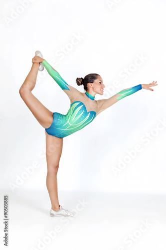 Tuinposter Gymnastiek Elegant bodyweight exercise