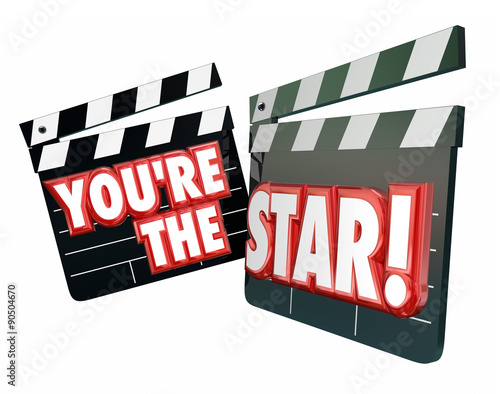 Plakát  You're the Star Movie Clappers Actor Actress Hollywood Productio