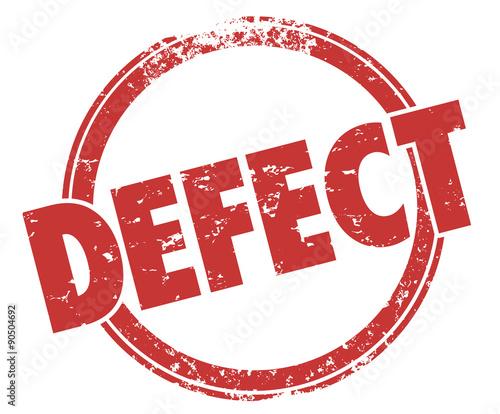 Fotografia, Obraz  Defect Word Red Stamp Bad Product Broken Flaw Bug Return Merchan