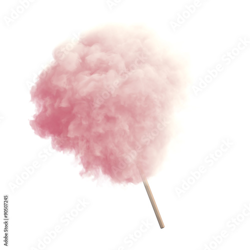 Cotton candy isolated
