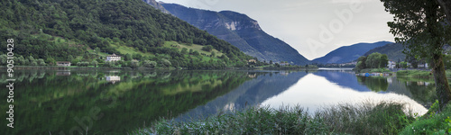 Fotografie, Obraz  beuaitful lake panorama in north italy lovere