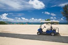 Golf Cart On A Beach