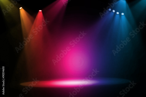 Colorful stage background - 90514610