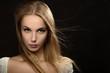 Leinwanddruck Bild - luxury blond