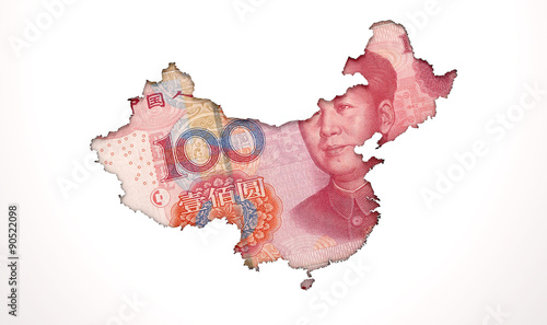 Staande foto Afrika Recessed Country Note China