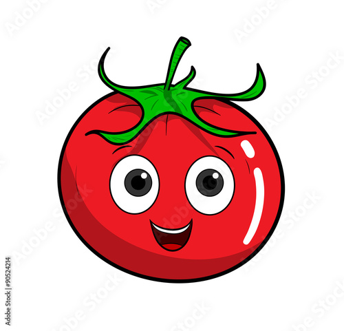 Cartoon Tomato, a hand drawn vector illustration of a cartoon tomato.