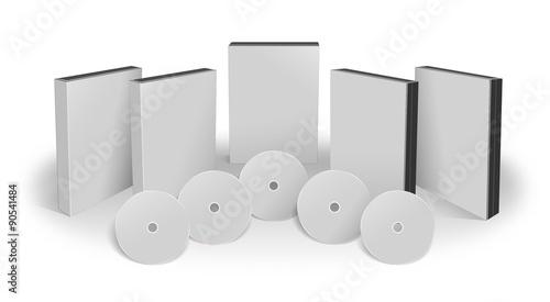 Fotografía  set blank 3D objects template