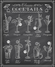 Famous Cocktails Illustrations...