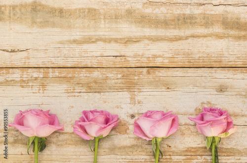 Shabby Chic Holz rosen rosa blumen auf shabby chic holz hintergrund - buy this stock