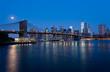 Skyline of Manhattan in New York at Night