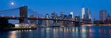 Fototapeta Nowy York - Waterfront and Skyline of New York City at Night