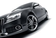Modern Black Car