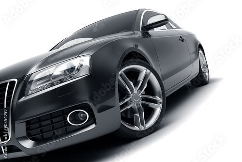 Photo  Modern black car