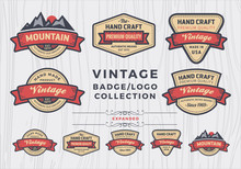 Set Of Vintage Badge/logo Desi...