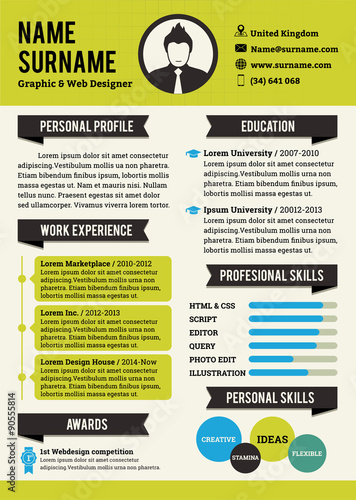 Green Personal Curriculum Vitae Template Simplicity Professional Resume Graphic And Web Design CV