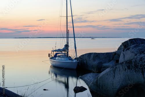 Summer night in the archipelago Canvas Print