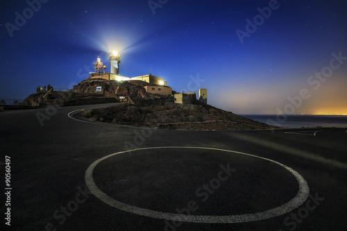 Noche sobre el Faro del Cabo de Gata