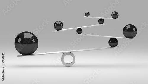 fototapeta na szkło Balance / Concept / Balls