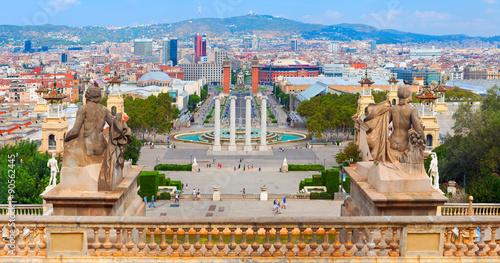 Papiers peints Barcelona Placa De Espanya is the most famous square in the centre of Barcelona City