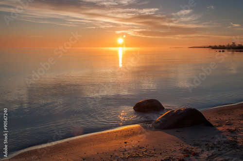 Photo  Dawn over the island of Gotland, Sweden.