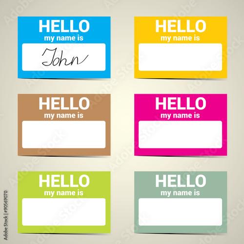 Fotografía  Hello My Name Is... Name Tag Set.