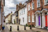 Fototapeta Uliczki - Traditional Houses on a Cobbled Street in England