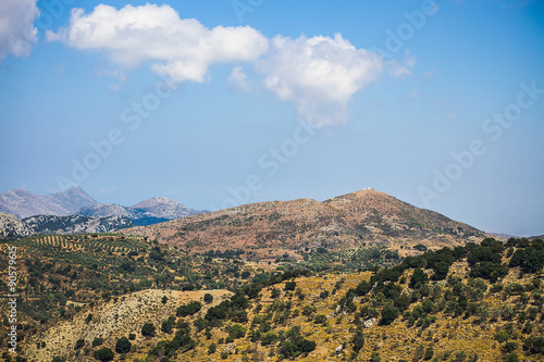 Deurstickers Heuvel Mediterranean mountain landscape
