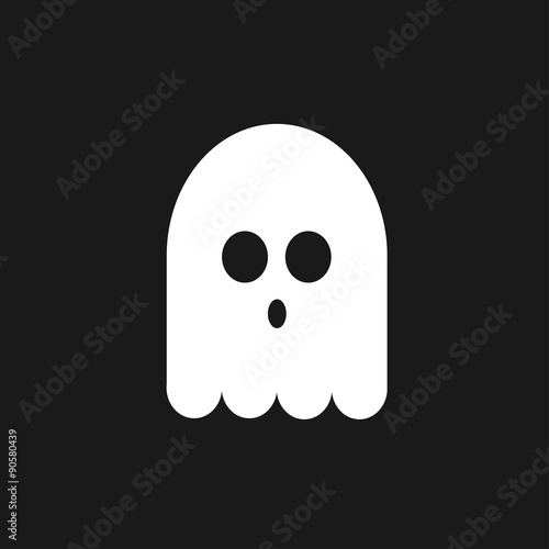 Photo  Funny ghost | Black background