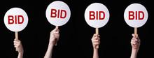 Bidders' Hands Lifting Auction...