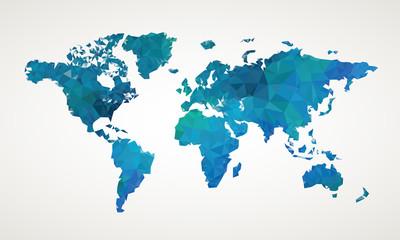 NaklejkaWorld map vector abstract illustration pattern