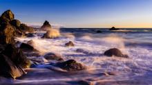 Crashing Waves At Dreamy Calif...