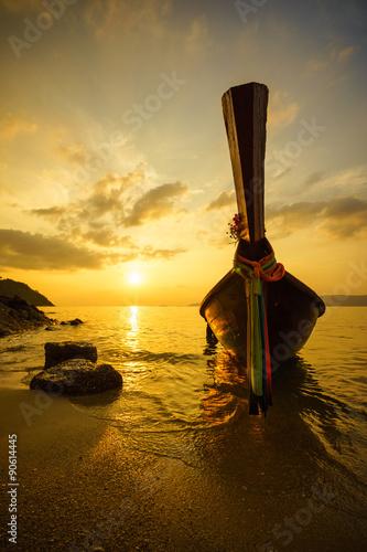 Foto op Aluminium Strand Sunset on the sea