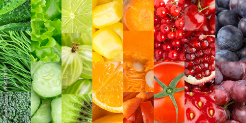 Deurstickers Keuken Fruits and vegetables