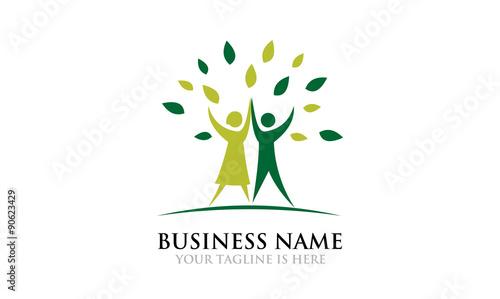 Fotografie, Obraz  Go Green Spirit Together - Logo Template