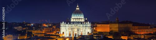 Foto op Aluminium Rome St Peter Rome Night