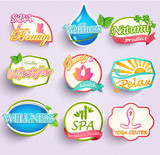 Set of flat labels for beauty, spa and fashion