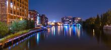 Milwaukee River Walk At Night