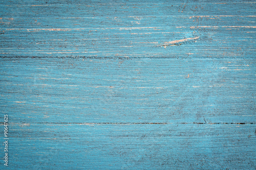 blue painted wood background Poster