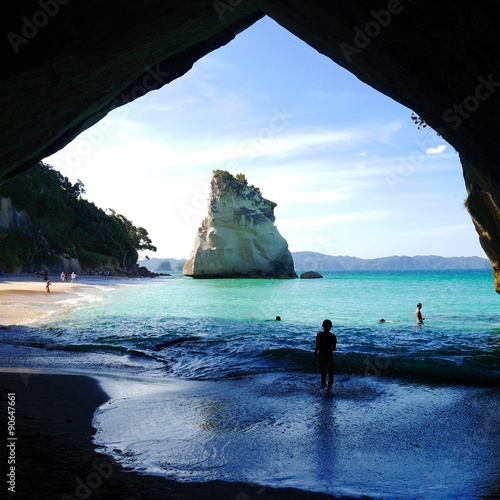 Foto op Canvas Cathedral Cove Cathedrale naturelle
