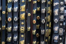 Souvenir Stand With Swiss Traditional Belts