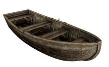 Old Wooden Boat - 3D Render