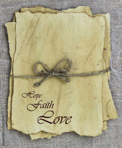 Antique Love Letters With Hope Faith