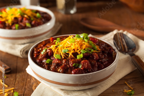 Canvas Print Homemade Organic Vegetarian Chili