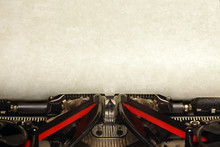 Old Vintage Typewriter With Bl...