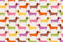 Seamless Cute Dogs Pattern