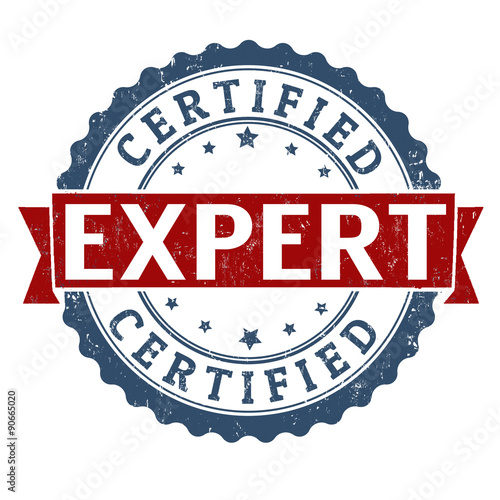 Expert certified stamp Canvas Print