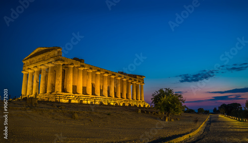 Concordia Temple in Sicily at Sunset Wallpaper Mural