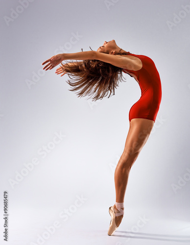 Foto op Canvas Dance School dancer ballerina