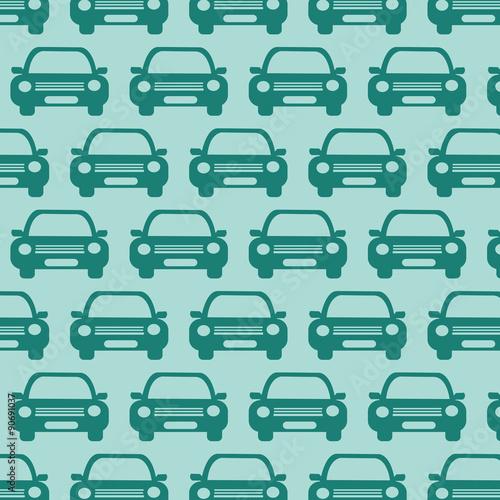 zielony-desen-z-pojazdami