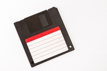 Old Floppy Diskette Isolated On White Background